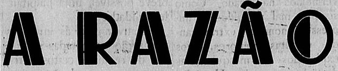 Logo do jornal integralista A RAZÃO, de Pouso Alegre (MG): circulou nos anos 36 e 37