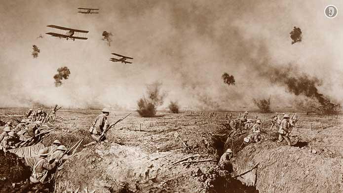 Batalha aérea na Primeira Guerra Mundial | Por Frank Hurley