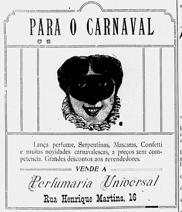 IMPARCIAL - Manaus (AM) - 1.fevereiro.1918 - ANÚNCIO - Carnaval Perfumaria